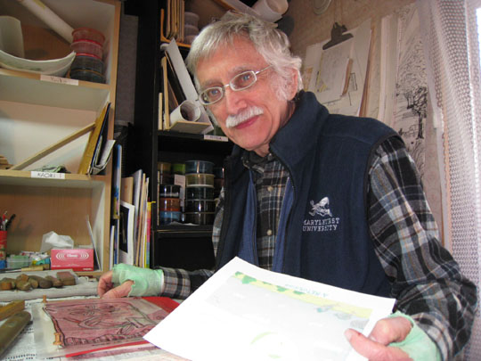 Richard Steiner in his studio